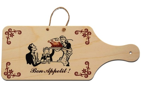 """Bon appetit"" wooden decorative board"