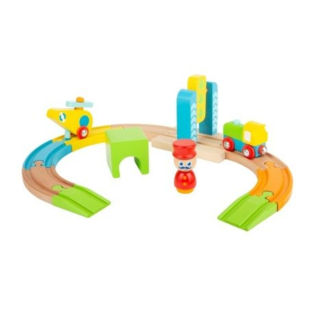 Junior Helicopter Wooden Toy Train